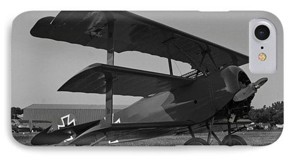 Fokker Dr1477 Triplane Bw IPhone Case