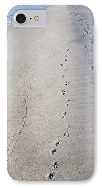 Footprints And Pawprints IPhone Case