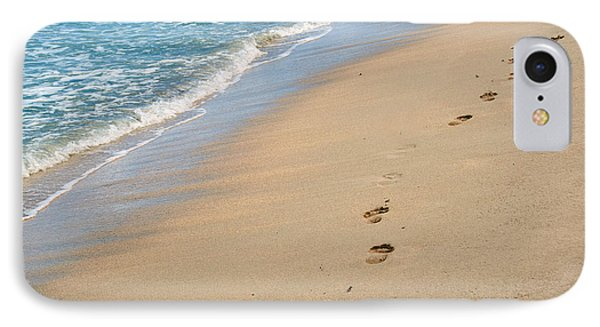 Beauty In Nature iPhone 8 Case - Footprints In The Sand by Juli Scalzi