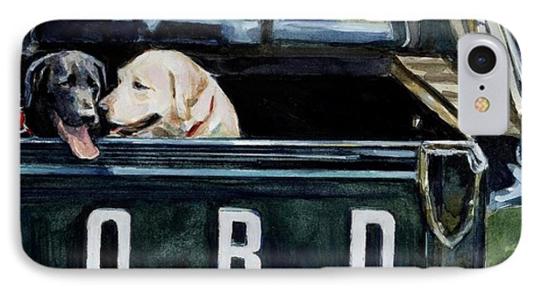 Truck iPhone 8 Case - For Our Retriever Dogs by Molly Poole