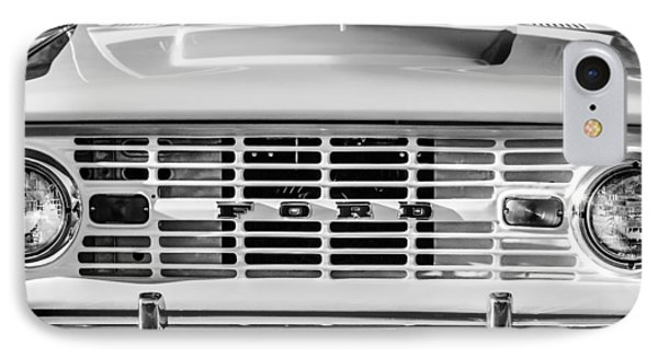 Ford Bronco Grille Emblem -0014bw IPhone Case