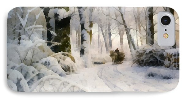 Forest In Winter IPhone Case