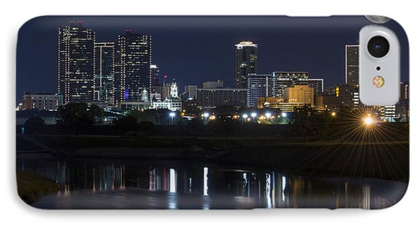 Fort Worth Skyline Super Moon IPhone Case