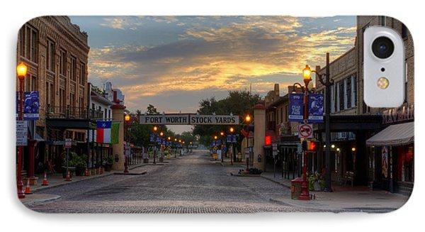 Fort Worth Stockyards Sunrise IPhone Case