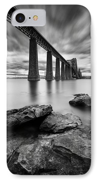 White iPhone 8 Case - Forth Bridge by Dave Bowman