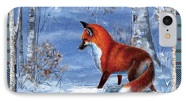 Fox In The Birch Woods IPhone Case