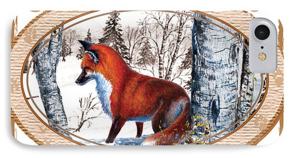 Fox On The Trail IPhone Case