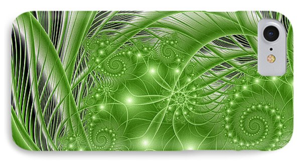 Fractal Abstract Green Nature IPhone Case