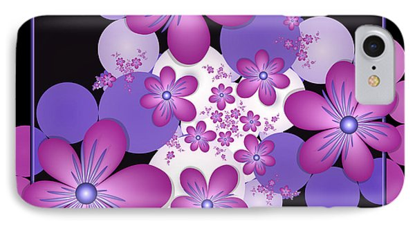 Fractal Flowers Modern Art IPhone Case