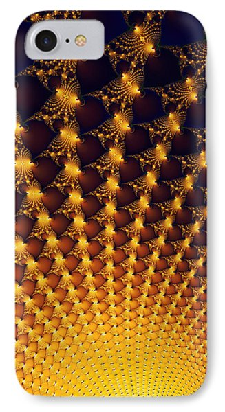 Fractal Yellow Golden And Black Firework IPhone Case