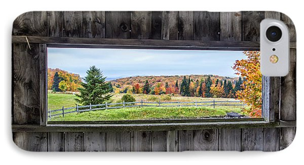 Framed-autumn In Vermont IPhone Case