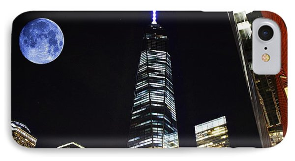 Freedom Tower And Blue Moon IPhone Case