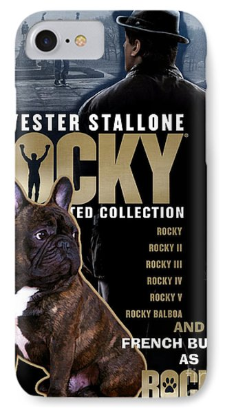 French Bulldog Art - Rocky Movie Poster IPhone Case