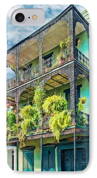French Quarter Ferns IPhone Case