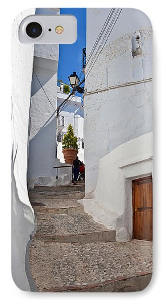 Frigiliana Street Scene, Costa Del Sol IPhone Case