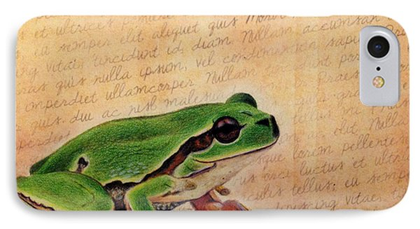 Frog On Paper IPhone Case