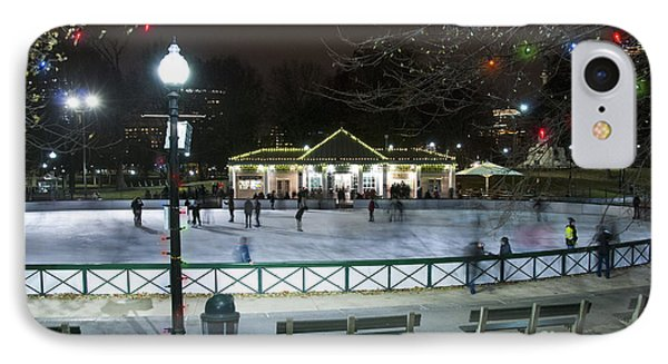 Frog Pond Ice Skating Rink In Boston Commons IPhone Case