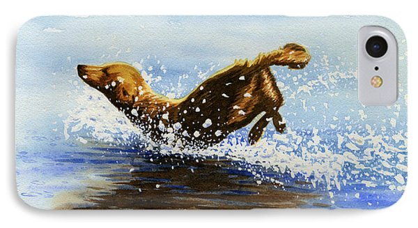Frolicking Dog IPhone Case