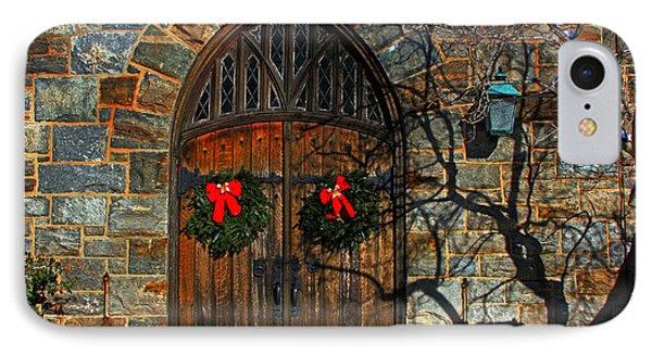 Front Door To Baldwin Memorial United Methodis IPhone Case