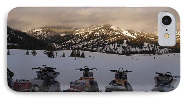Frosty Snowmobiles IPhone Case