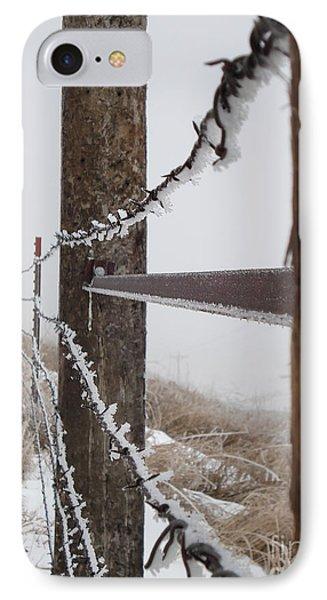 Frozen Fence Line IPhone Case
