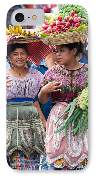 Fruit Sellers In Antigua Guatemala IPhone Case