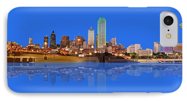 Full Moon Over Dallas Reflected IPhone Case