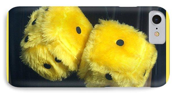 Fuzzy Yellow Dice IPhone Case