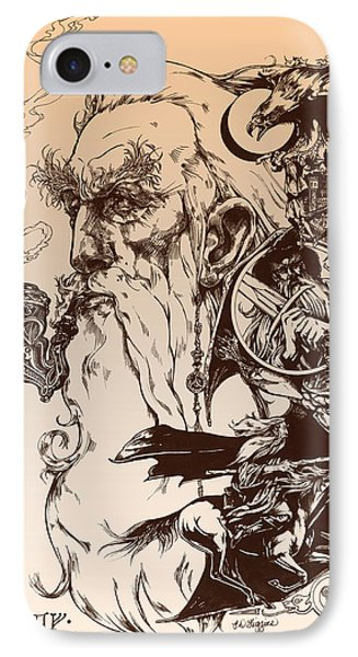 Wizard iPhone 8 Case - gandalf- Tolkien appreciation by Derrick Higgins