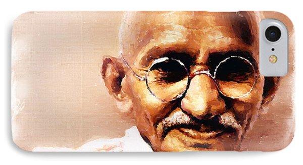 Gandhi In Color IPhone Case