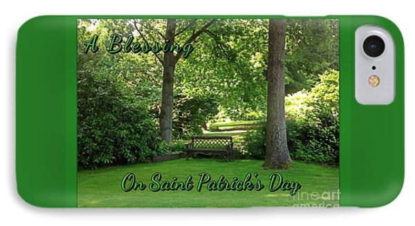 Garden Bench On Saint Patrick's Day IPhone Case