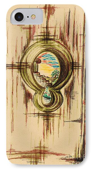 Garden Through The Key Hole IPhone Case
