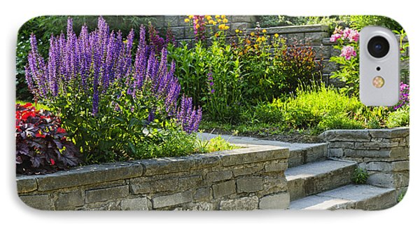 Garden With Stone Landscaping IPhone Case