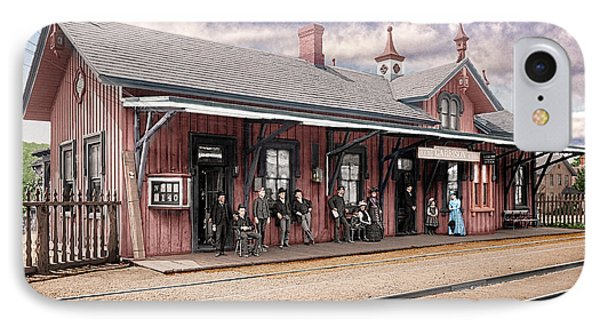 Garrison Train Station Colorized IPhone Case