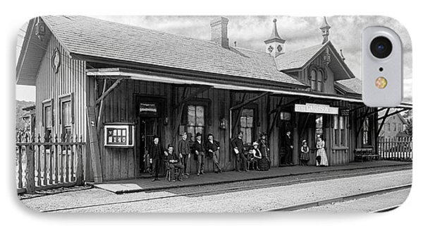 Garrison Train Station In Black And White IPhone Case