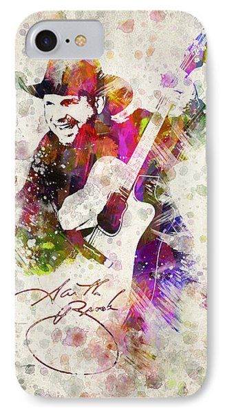Saxophone iPhone 8 Case - Garth Brooks by Aged Pixel