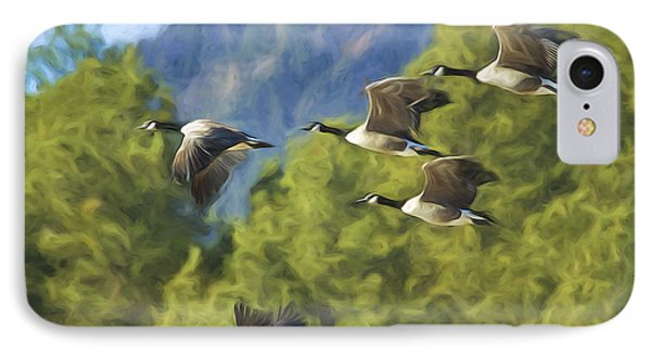 Geese On A Mission IPhone Case