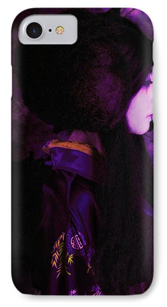 Geisha In Purple And Pink IPhone Case