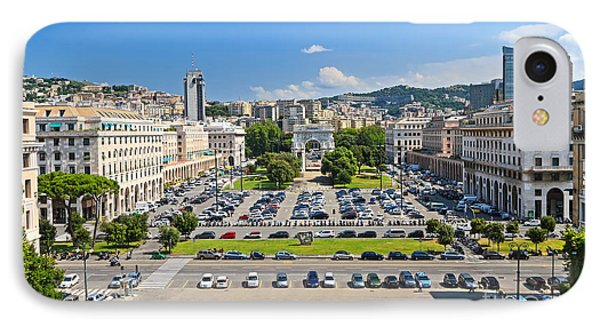 Genova - Piazza Della Vittoria Overview IPhone Case