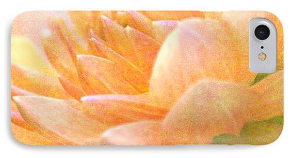Gently Textured Dahlia  IPhone Case