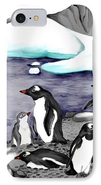 Gentoo Penguins IPhone Case