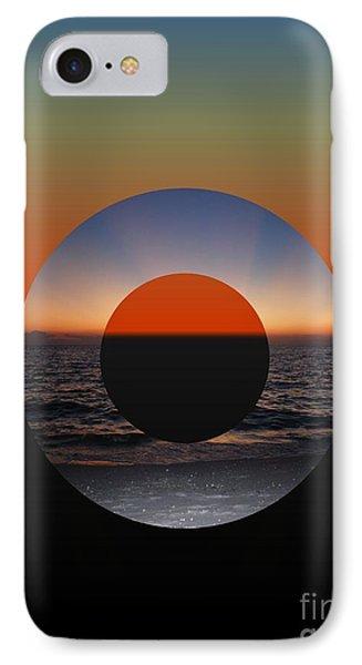Geometric Sunset- Circle IPhone Case