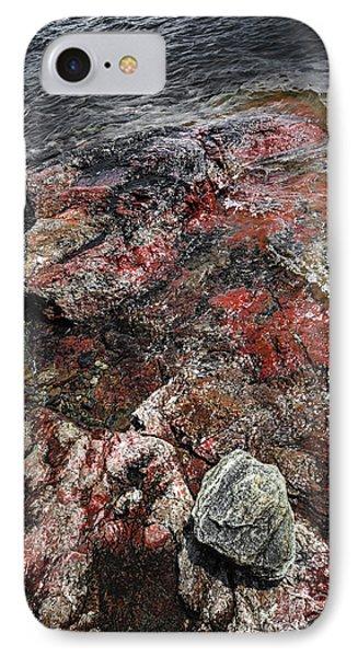 Georgian Bay Rocks Abstract IIi IPhone Case