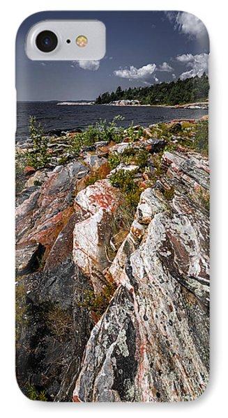 Georgian Bay Rocks IPhone Case