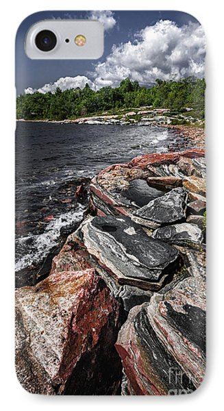 Georgian Bay Rocks I IPhone Case