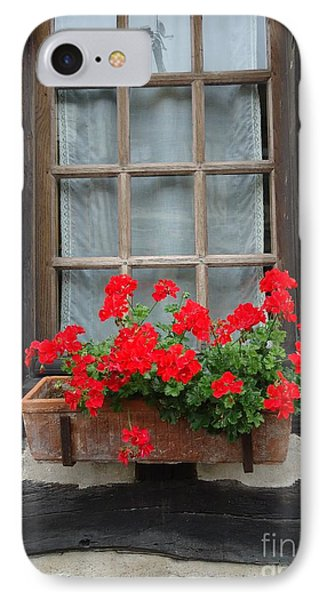 Geraniums In Timber Window IPhone Case