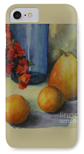 Geraniums With Pear And Oranges IPhone Case