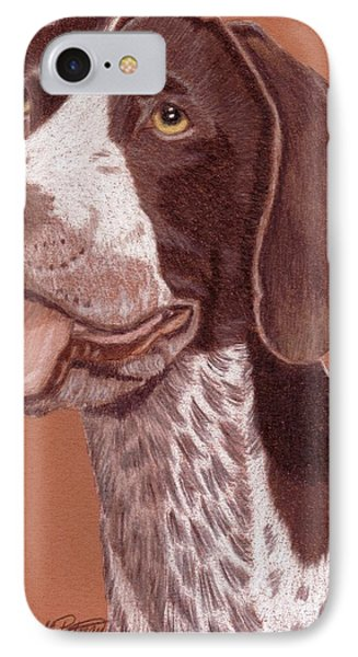 German Shorthair Pointer Vignette IPhone Case