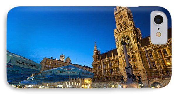 Germany, Bavaria, Marienplatz Munch IPhone Case