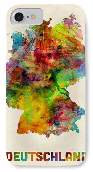 Germany Watercolor Map Deutschland IPhone Case